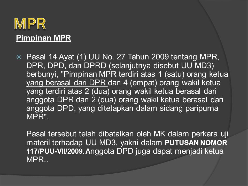MPR Pimpinan MPR.