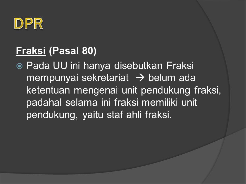 DPR Fraksi (Pasal 80)