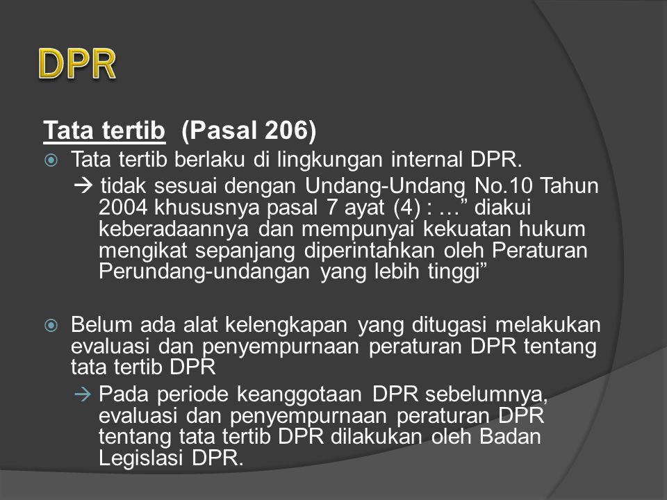 DPR Tata tertib (Pasal 206)