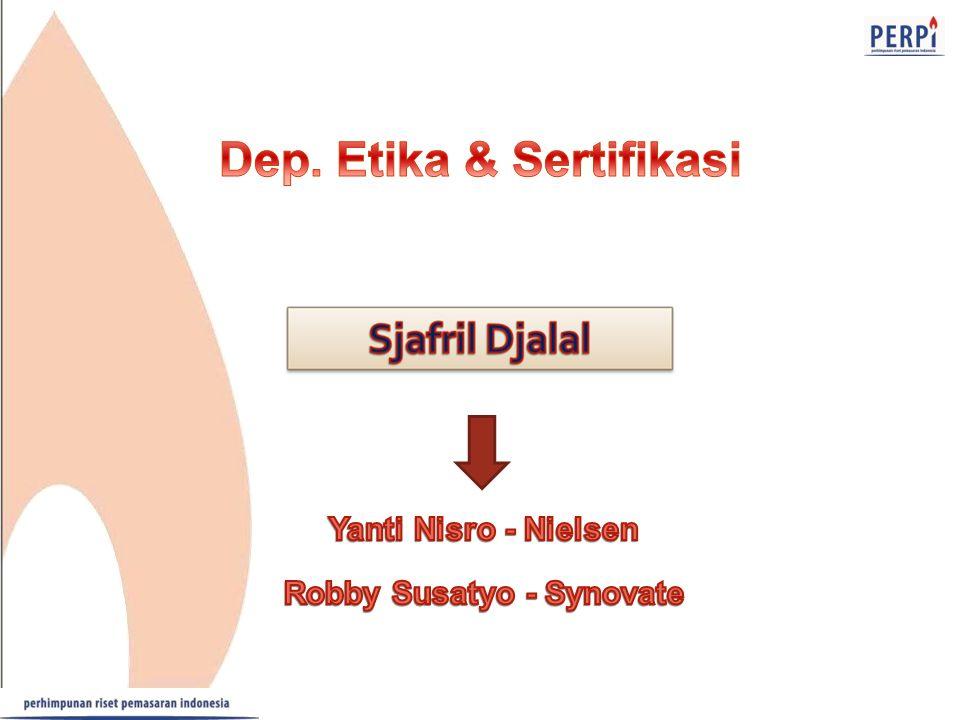 Dep. Etika & Sertifikasi Robby Susatyo - Synovate
