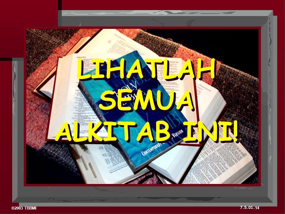 LIHATLAH SEMUA ALKITAB INI!