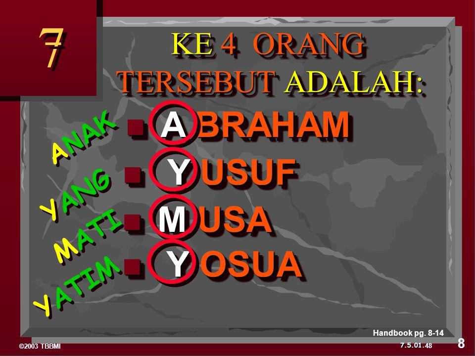 KE 4 ORANG TERSEBUT ADALAH: