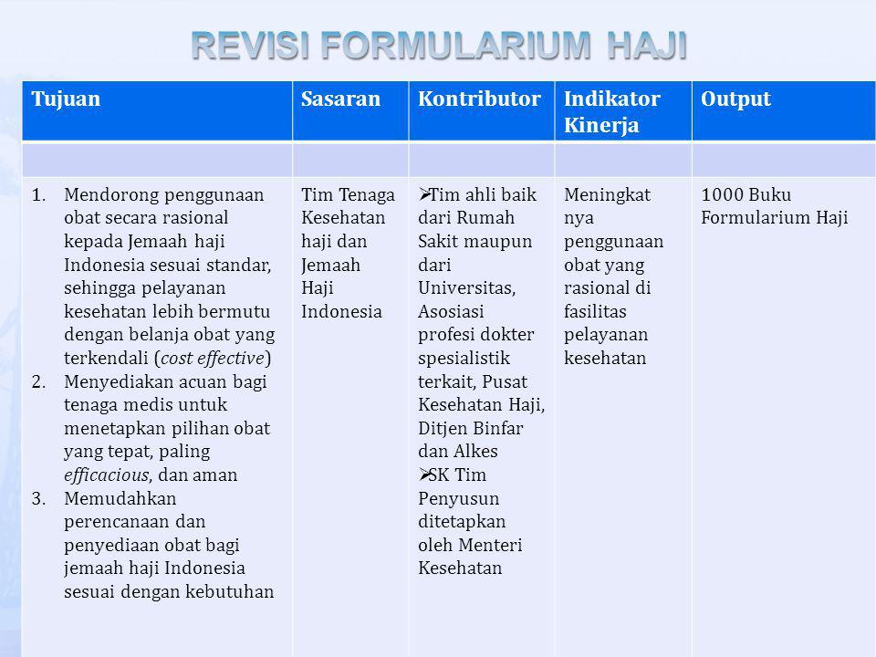 REVISI FORMULARIUM HAJI