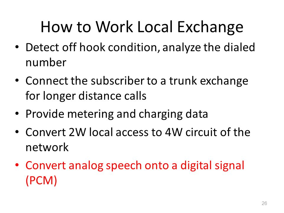 How to Work Local Exchange