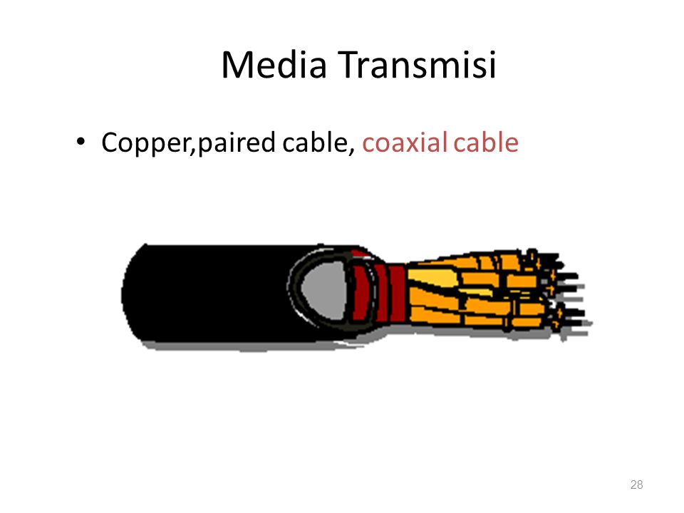 Media Transmisi Copper,paired cable, coaxial cable