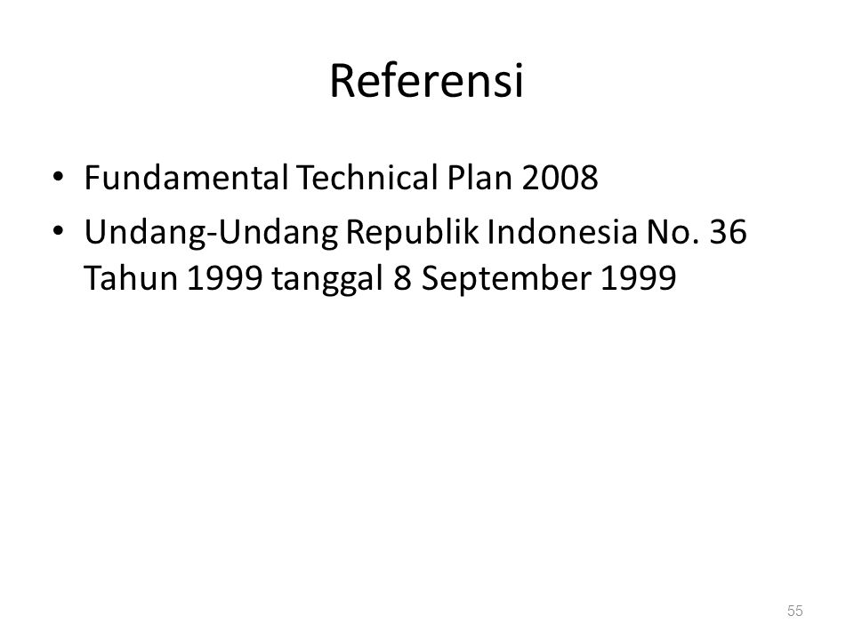 Referensi Fundamental Technical Plan 2008