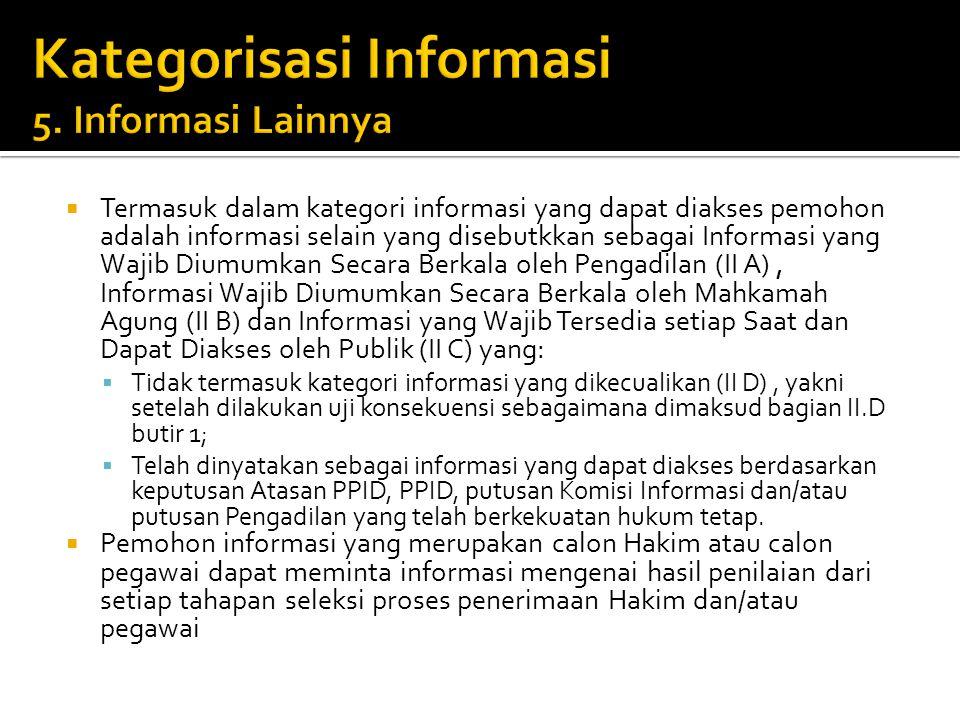 Kategorisasi Informasi 5. Informasi Lainnya