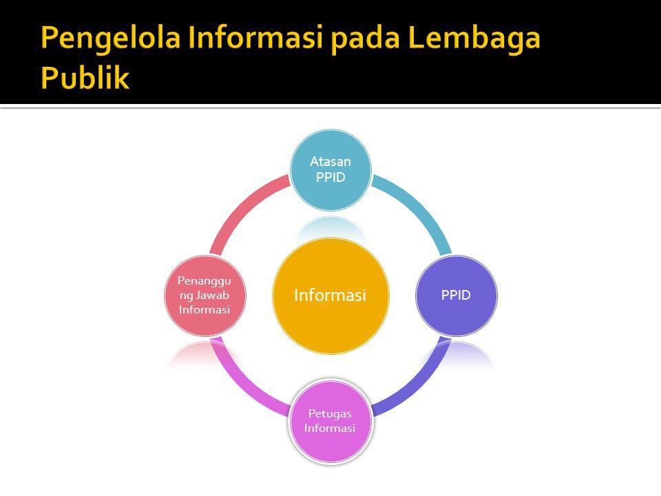 Pengelola Informasi pada Lembaga Publik