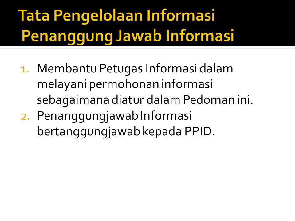 Tata Pengelolaan Informasi Penanggung Jawab Informasi