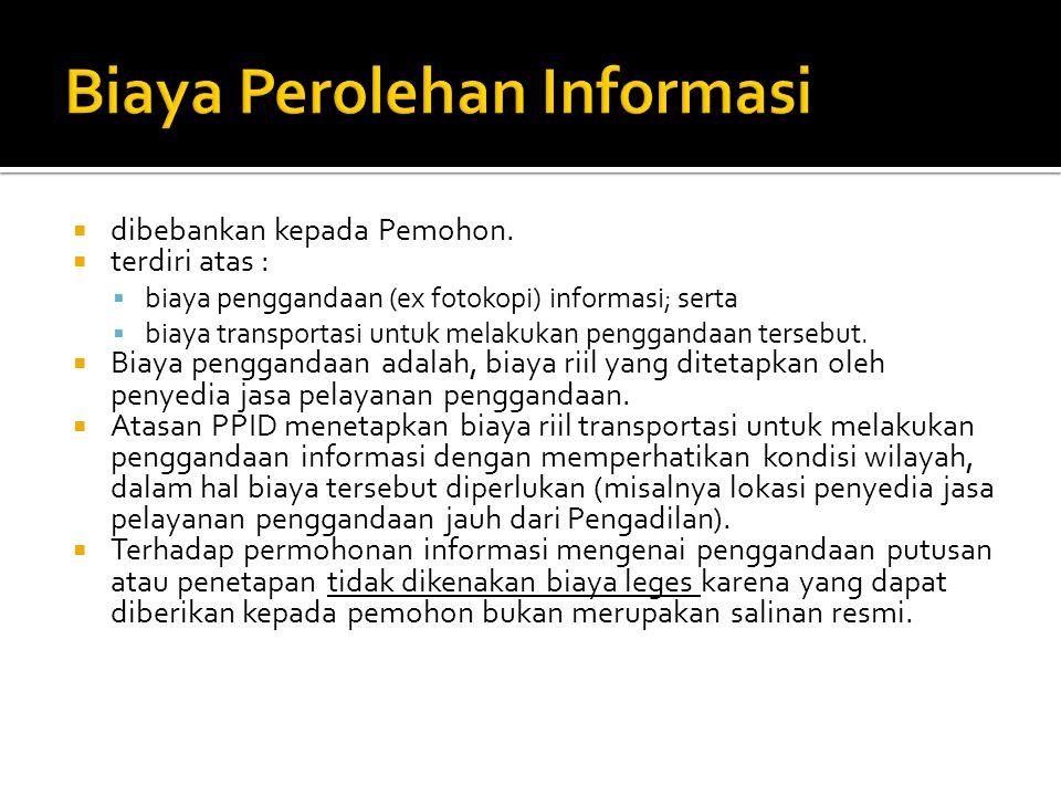 Biaya Perolehan Informasi