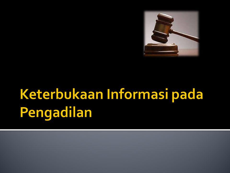 Keterbukaan Informasi pada Pengadilan