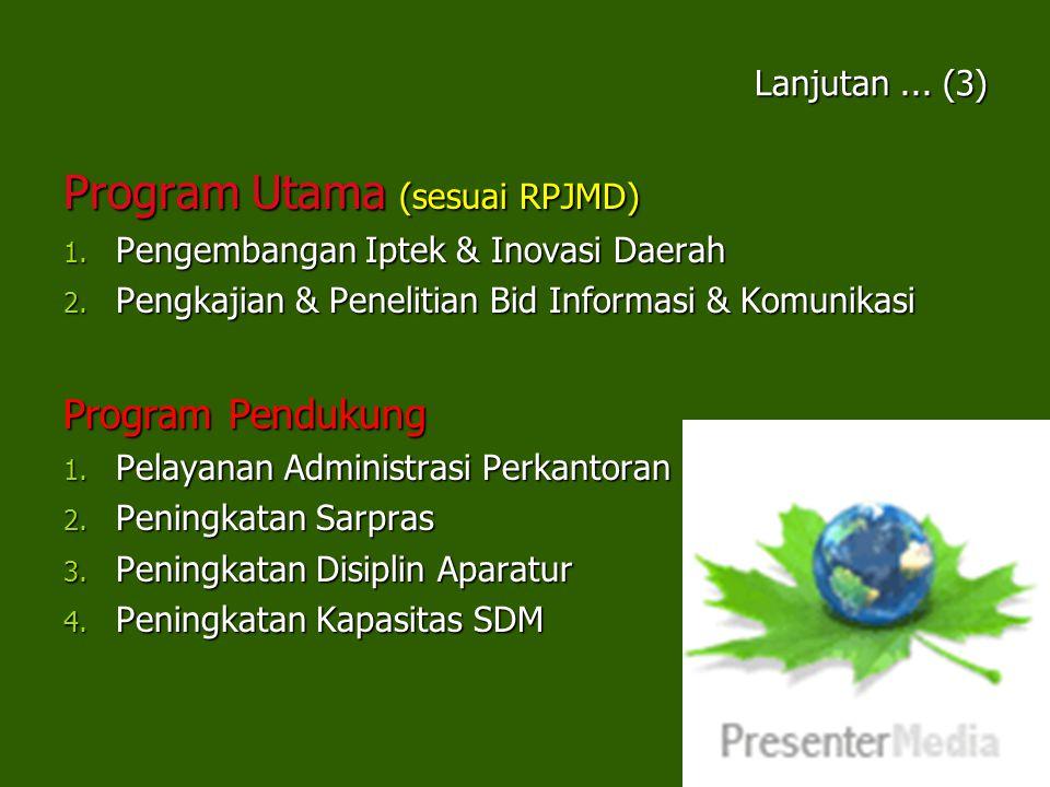 Program Utama (sesuai RPJMD)