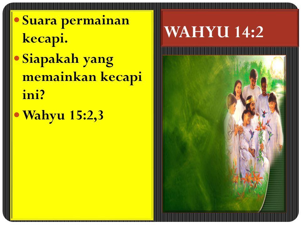 WAHYU 14:2 Suara permainan kecapi. Siapakah yang memainkan kecapi ini