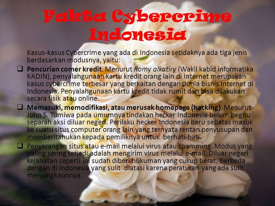 Fakta Cybercrime Indonesia