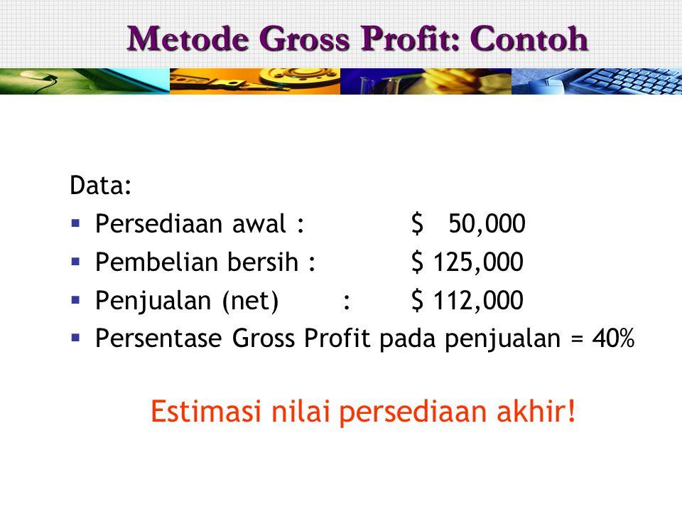 Metode Gross Profit: Contoh