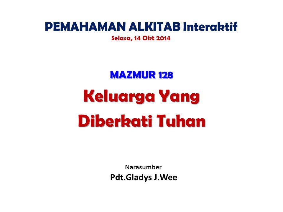 PEMAHAMAN ALKITAB Interaktif Selasa, 14 Okt 2014