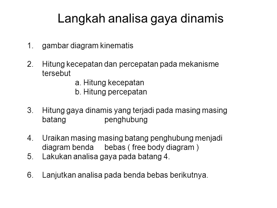 Langkah analisa gaya dinamis