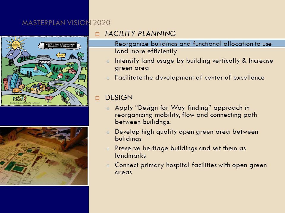 FACILITY PLANNING DESIGN MASTERPLAN VISION 2020