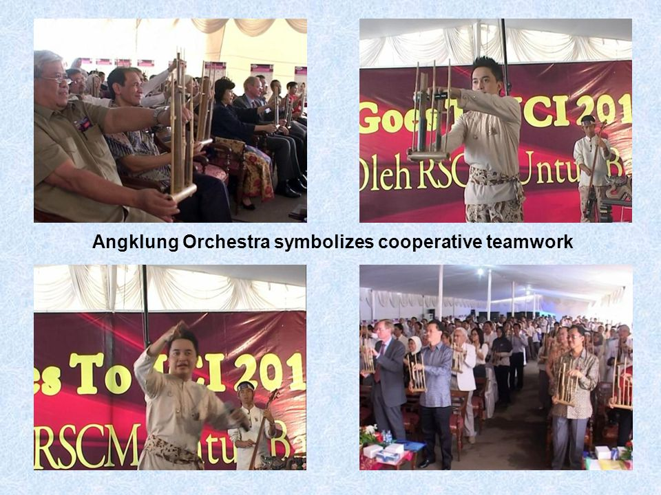 Angklung Orchestra symbolizes cooperative teamwork