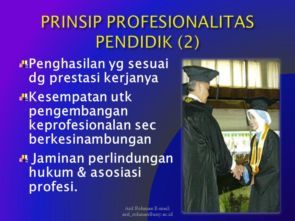 PRINSIP PROFESIONALITAS PENDIDIK (2)