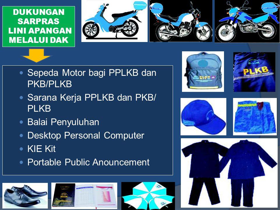 Sepeda Motor bagi PPLKB dan PKB/PLKB Sarana Kerja PPLKB dan PKB/ PLKB