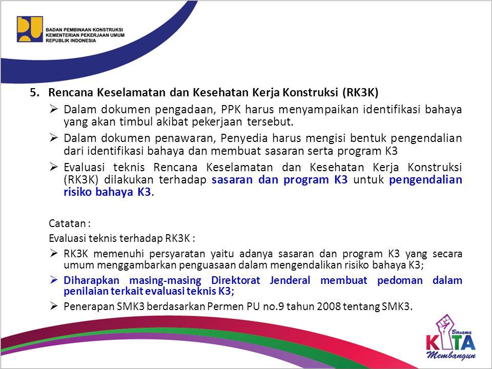 Rencana Keselamatan dan Kesehatan Kerja Konstruksi (RK3K)