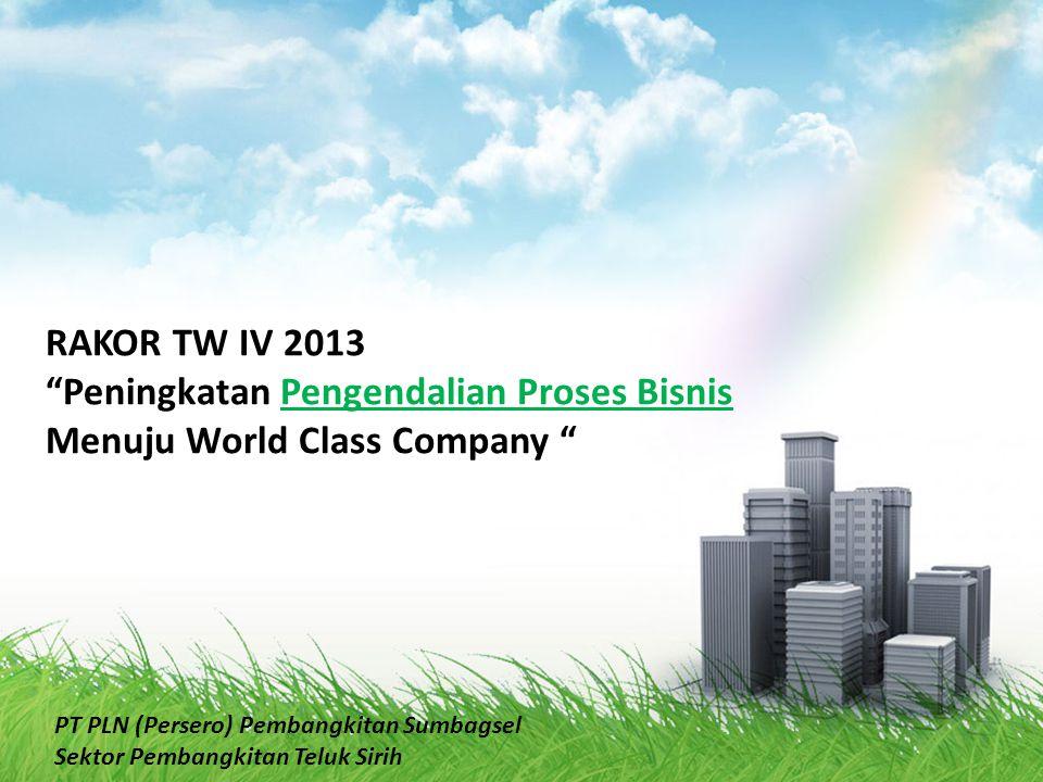 Peningkatan Pengendalian Proses Bisnis Menuju World Class Company