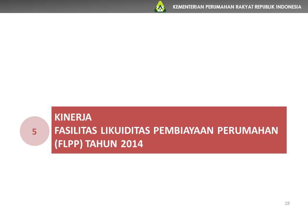 KINERJA fasilitas likuiditas pembiayaan perumahan (flpp) TAHUN 2014