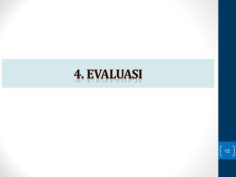 4. EVALUASI
