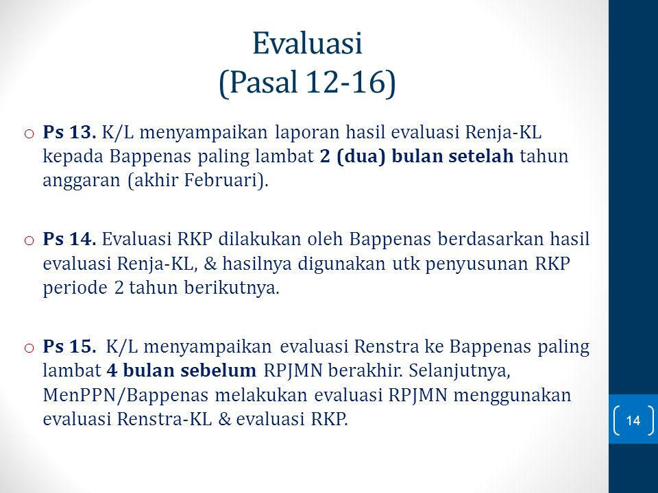 Evaluasi (Pasal 12-16)
