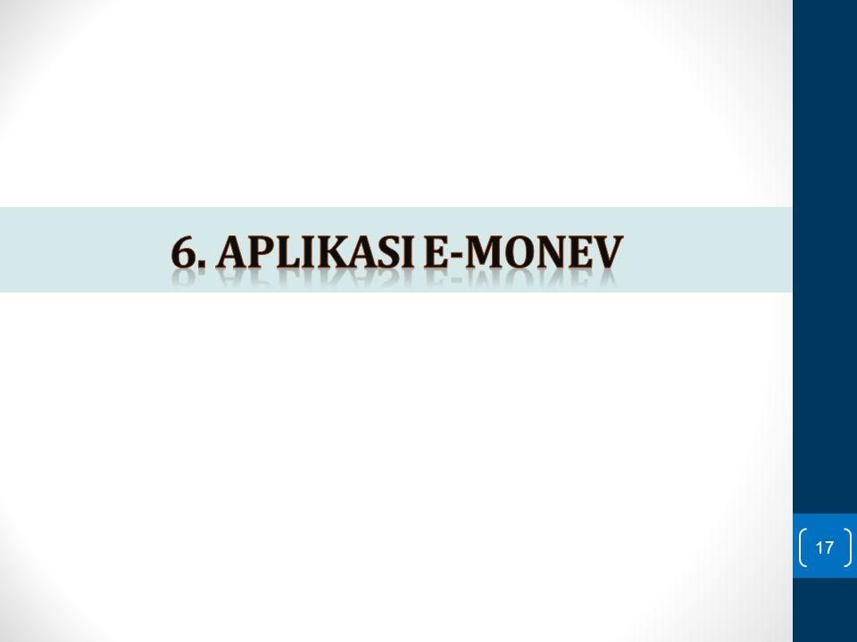 6. Aplikasi e-monev