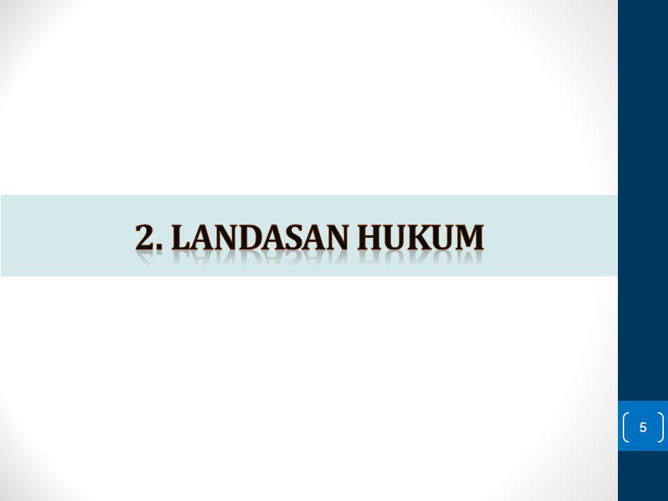 2. Landasan hukum