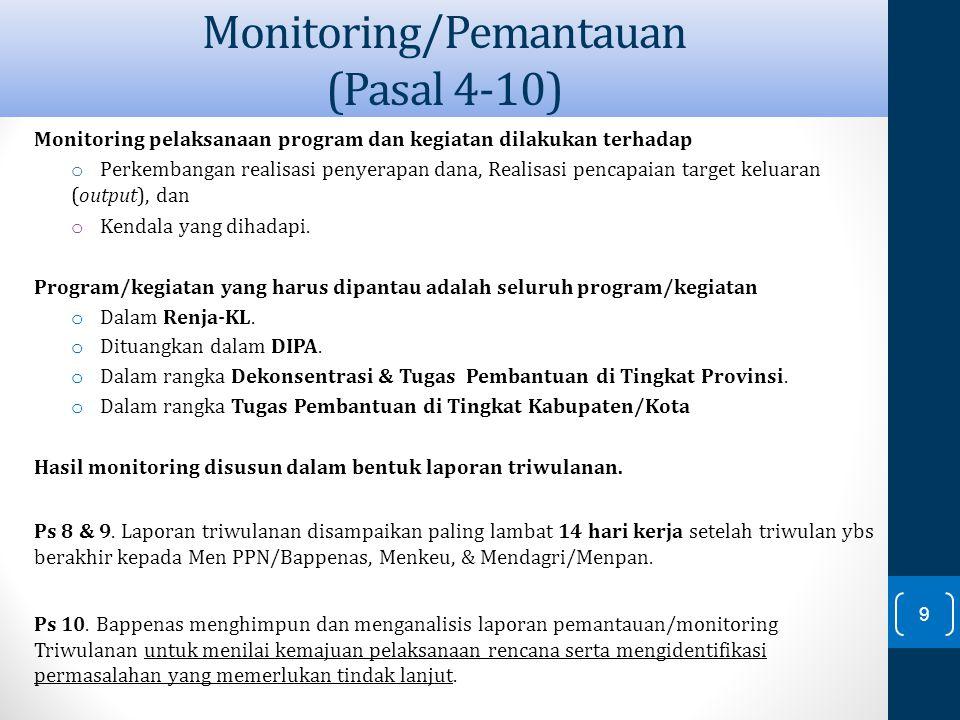 Monitoring/Pemantauan (Pasal 4-10)
