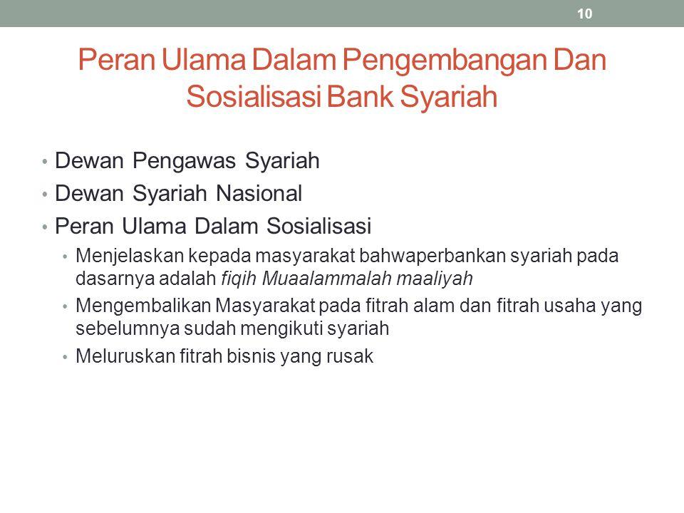 Peran Ulama Dalam Pengembangan Dan Sosialisasi Bank Syariah