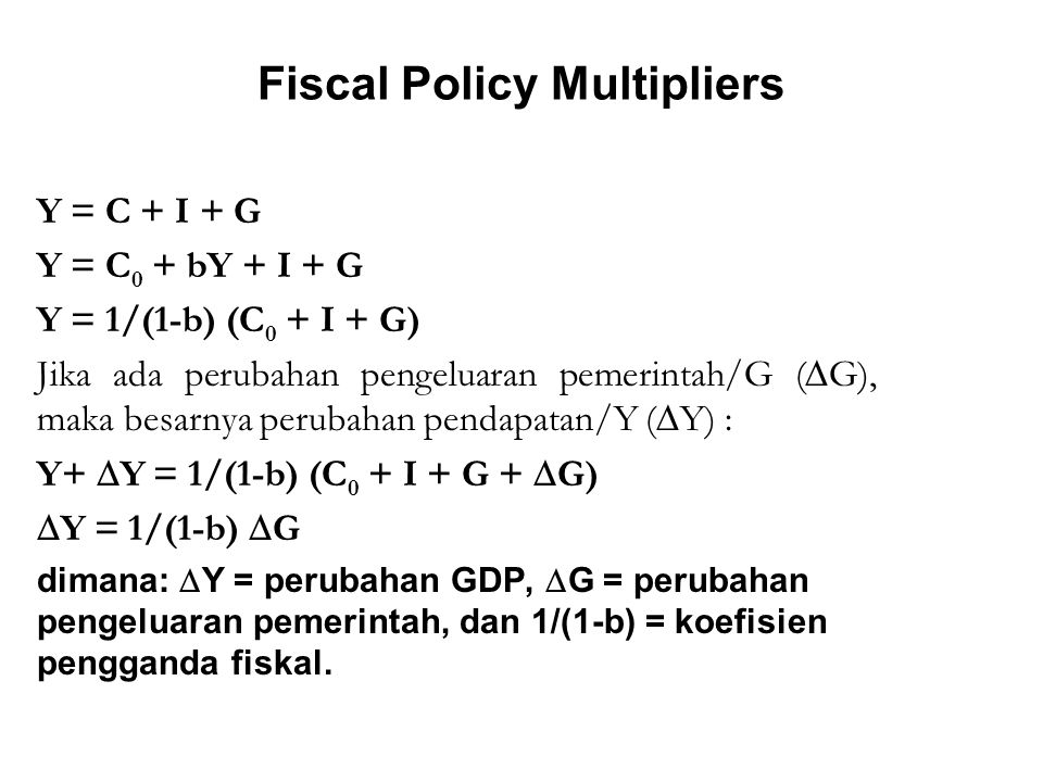 Fiscal Policy Multipliers
