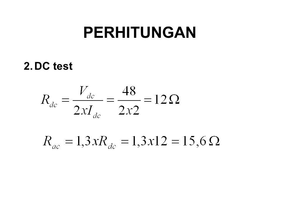 PERHITUNGAN DC test
