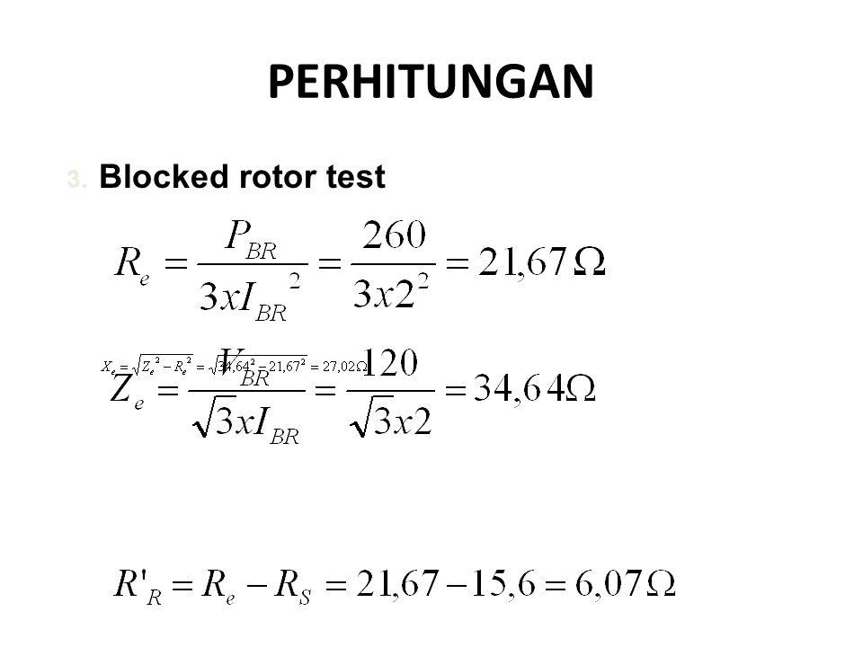 PERHITUNGAN Blocked rotor test