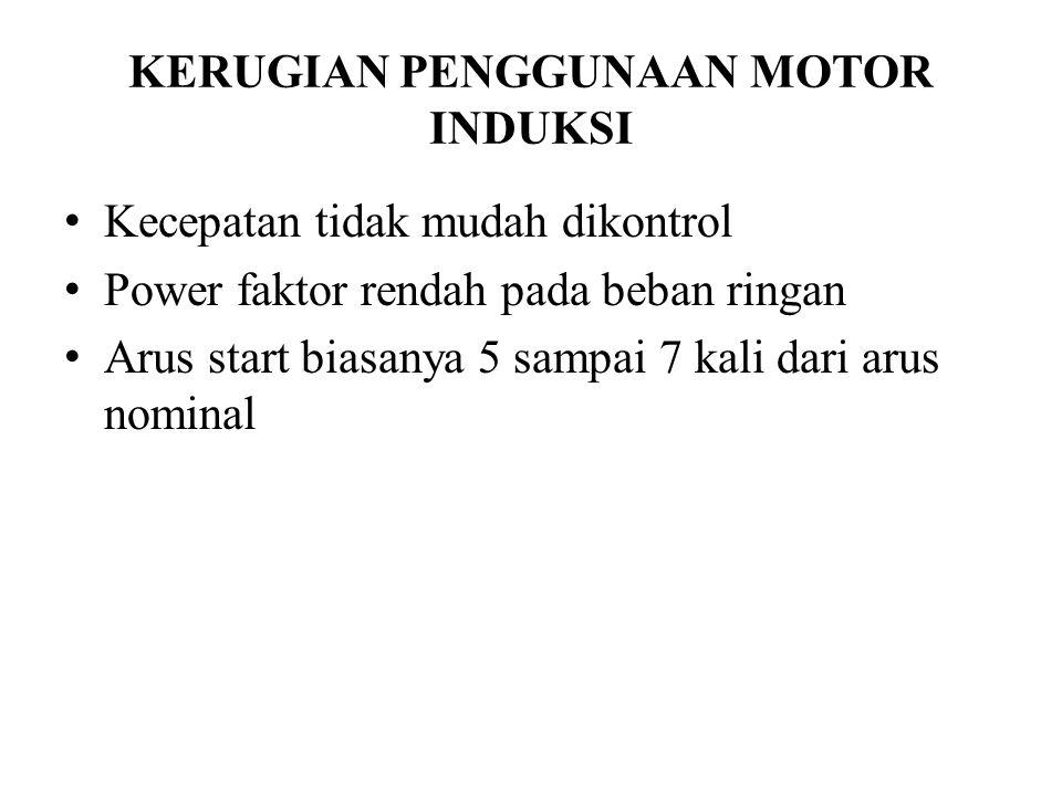 KERUGIAN PENGGUNAAN MOTOR INDUKSI