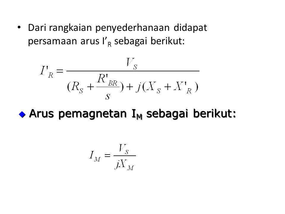 Dari rangkaian penyederhanaan didapat persamaan arus I'R sebagai berikut: