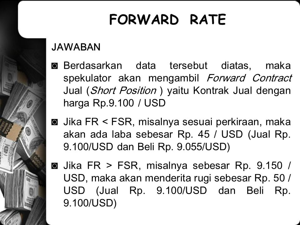 FORWARD RATE JAWABAN.