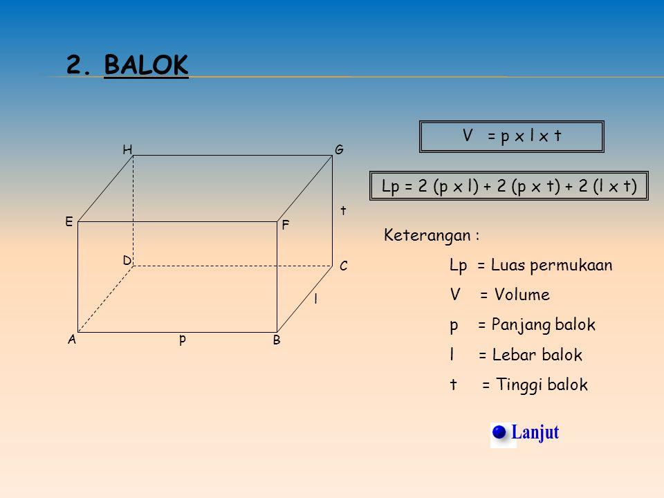 Lp = 2 (p x l) + 2 (p x t) + 2 (l x t)