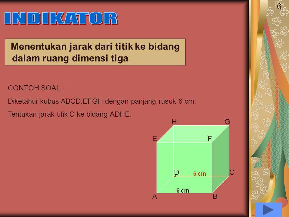 Menentukan jarak dari titik ke bidang dalam ruang dimensi tiga