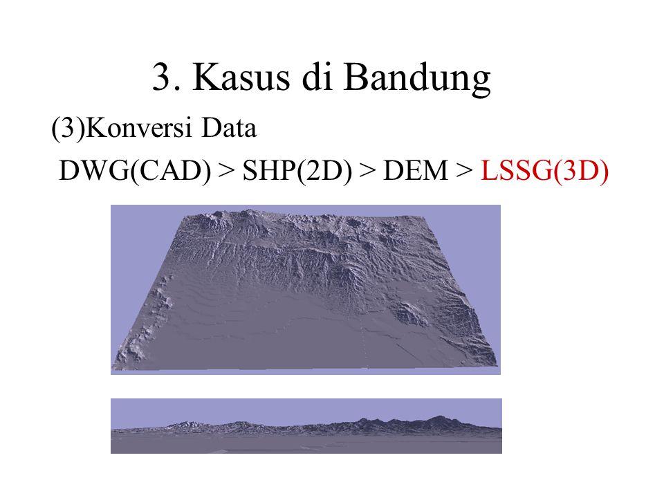 (3)Konversi Data DWG(CAD) > SHP(2D) > DEM > LSSG(3D)