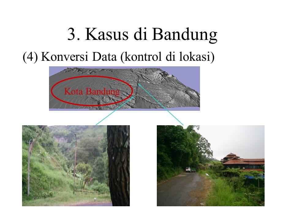 (4) Konversi Data (kontrol di lokasi)