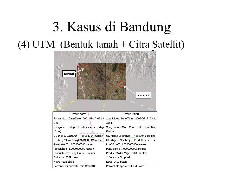 (4) UTM (Bentuk tanah + Citra Satellit)