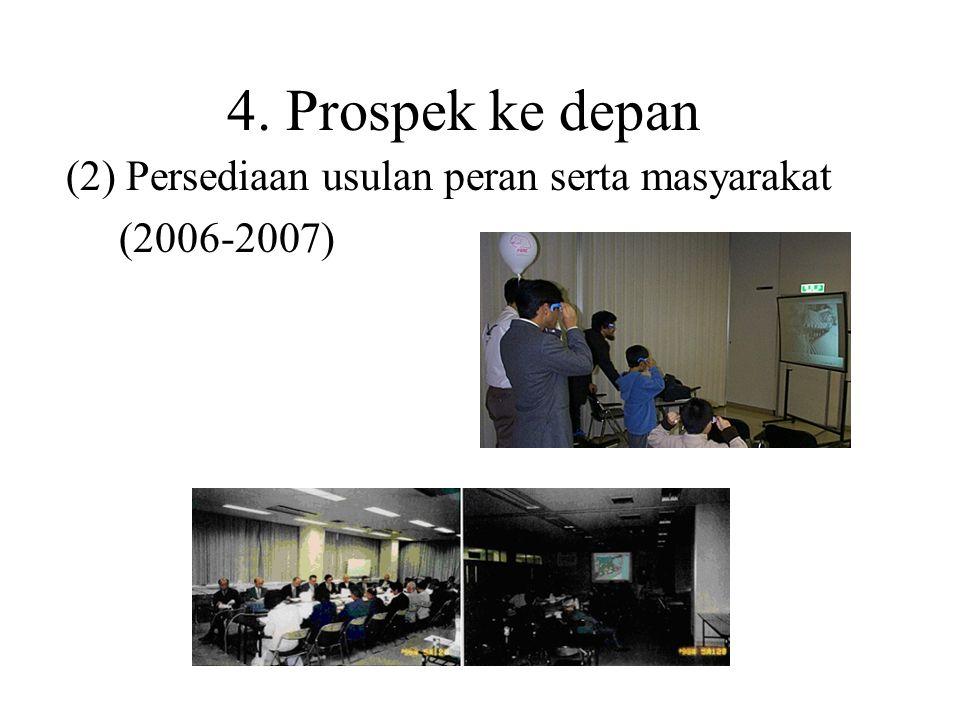 (2) Persediaan usulan peran serta masyarakat (2006-2007)