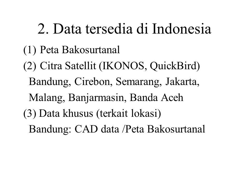 2. Data tersedia di Indonesia
