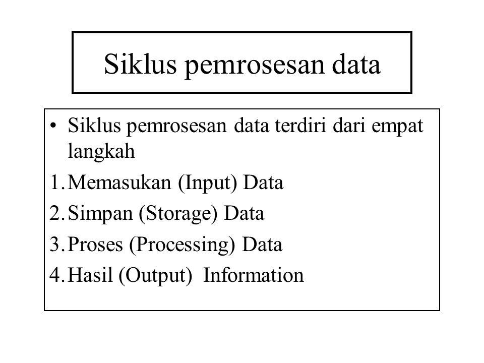 Siklus pemrosesan data