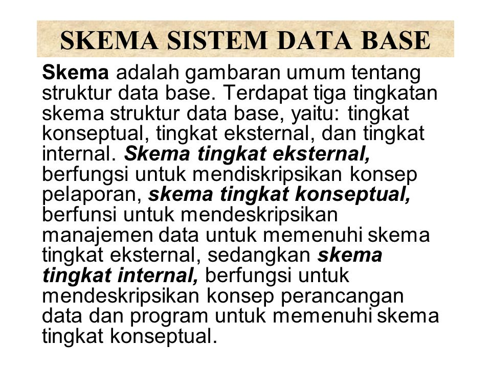 SKEMA SISTEM DATA BASE
