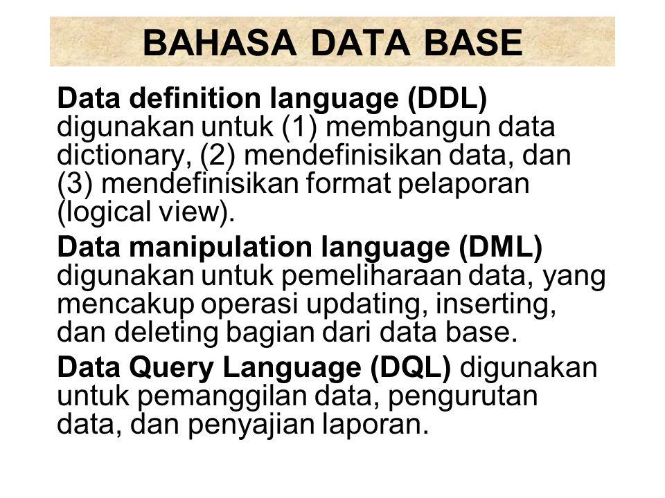 BAHASA DATA BASE